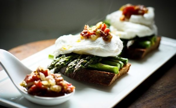 Asparagus & Poached Egg on Toast