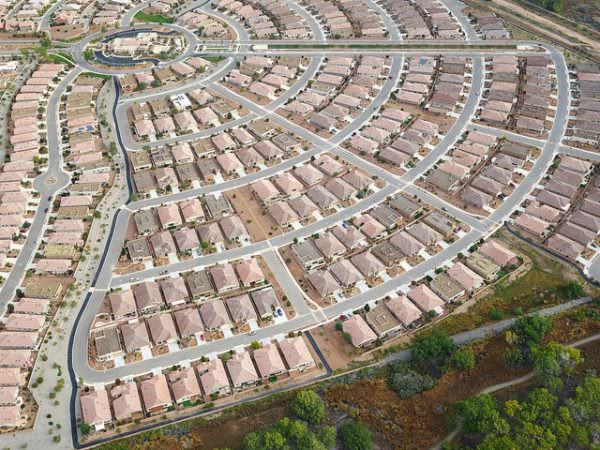 Aerial View Of Suburbia