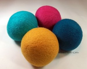 Wool Dryer Balls - Candy Pop - Set of 4 - Eco Friendly