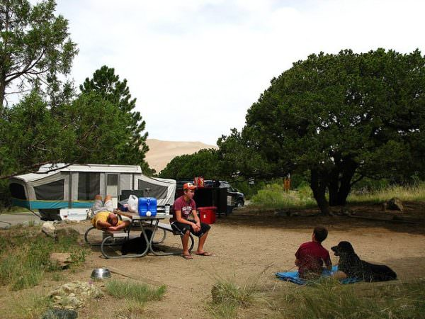 Camping at the Dunes