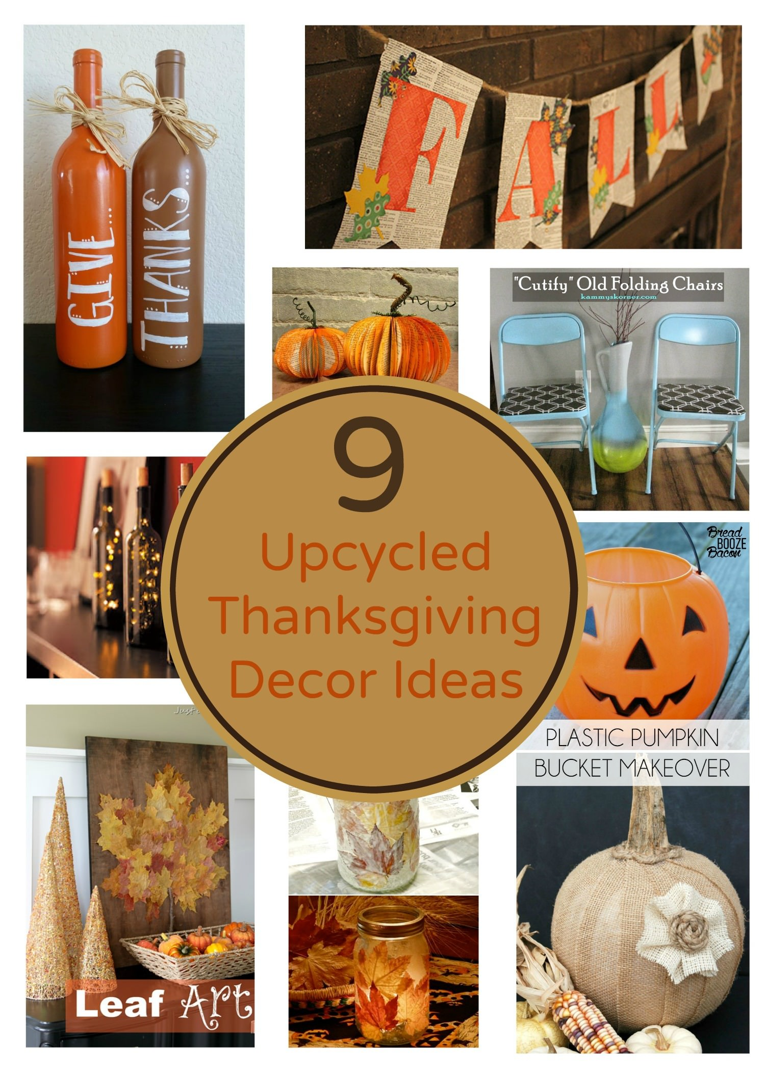 9 Eco Friendly Upcycled Thanksgiving Decoration Ideas Earth 911