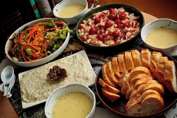Turkish food spread
