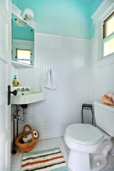 Go green bathroom makeover