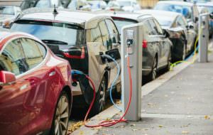 electric vehicles charging curbside