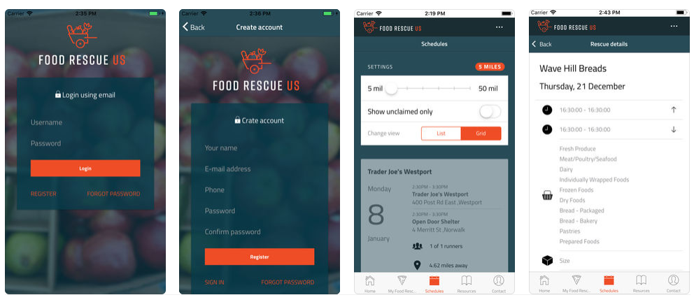 Food Rescue US app