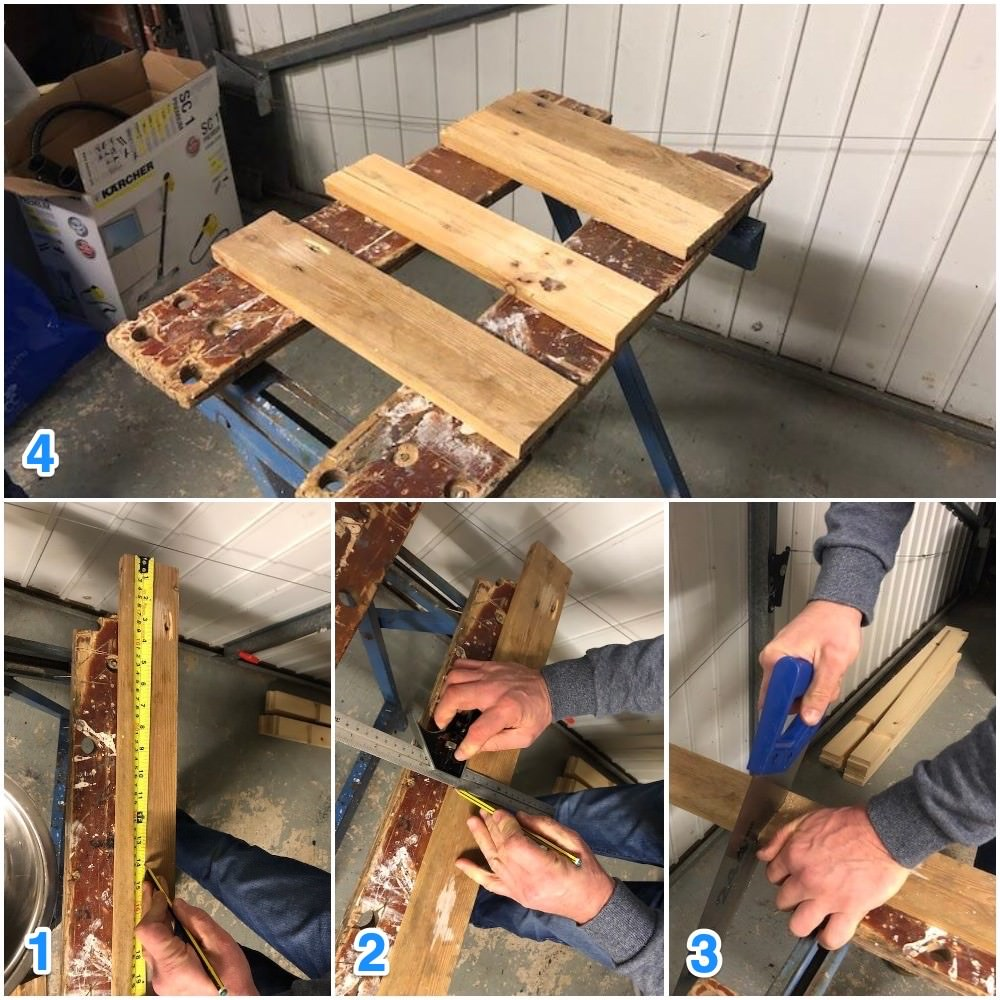 measure and cut the planks