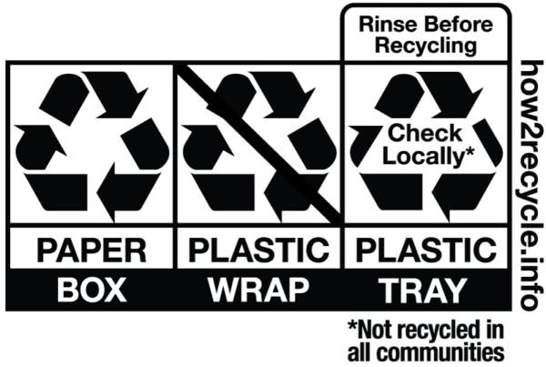 How2Recycle sample labels