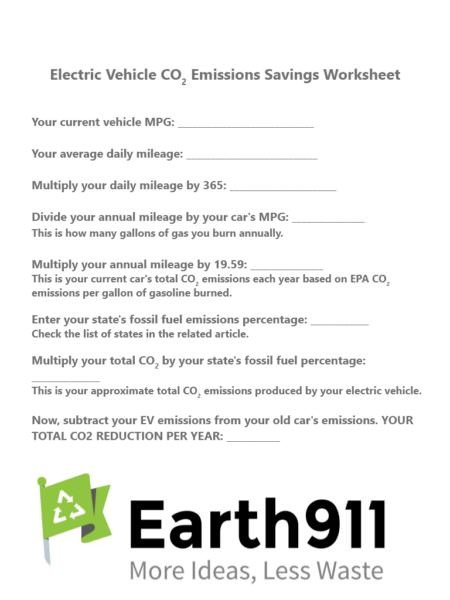 EV Emissions Worksheet
