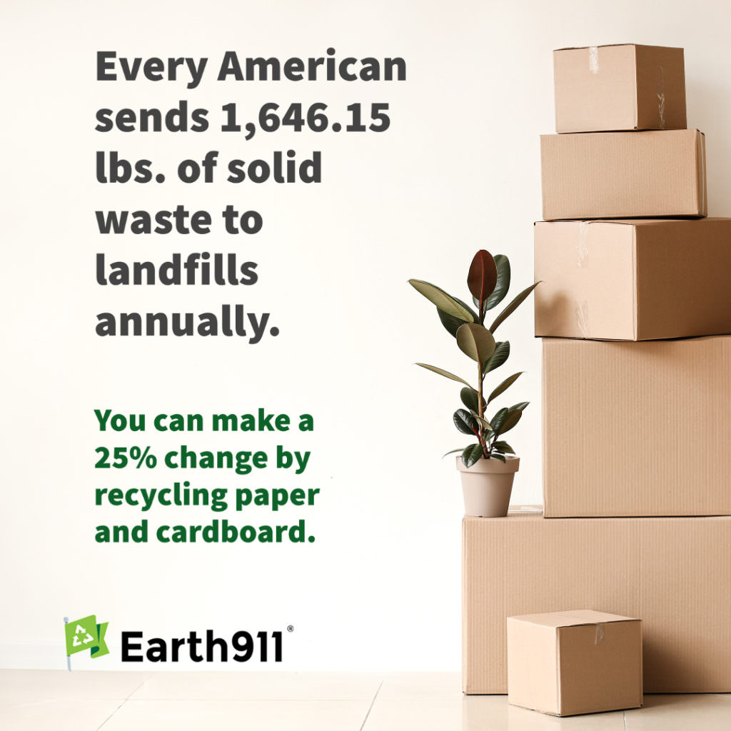 Every America sends more than 1,000 pounds of solid waste to landfills annually.