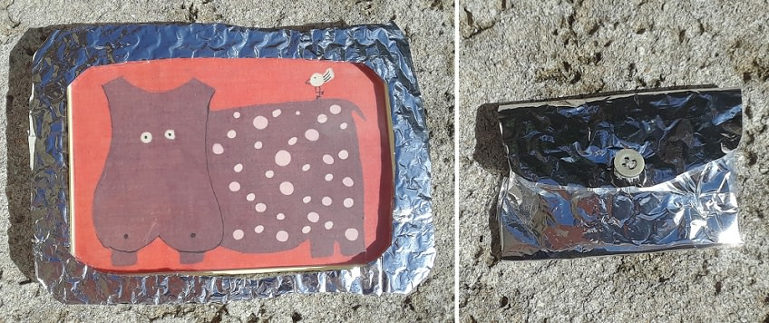 DIY projects for silver padded pouches
